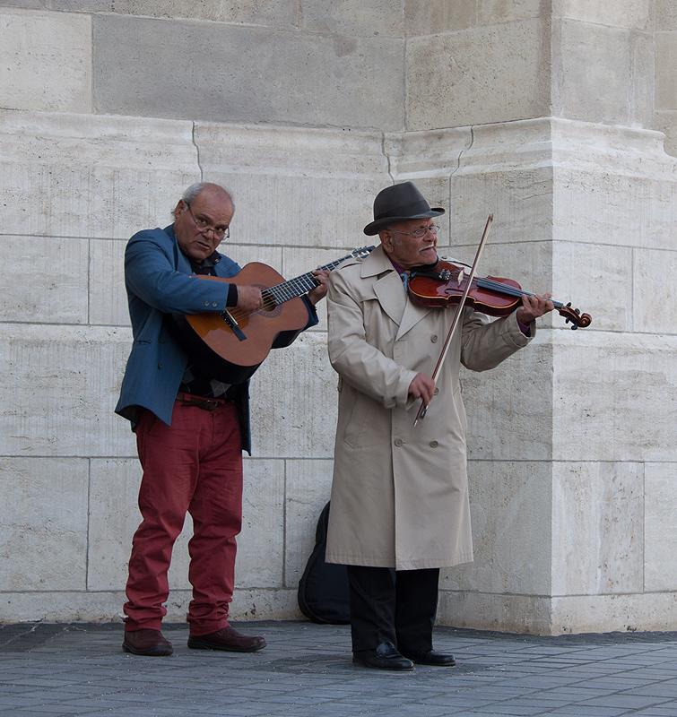 Ungarische Straßenmusiker